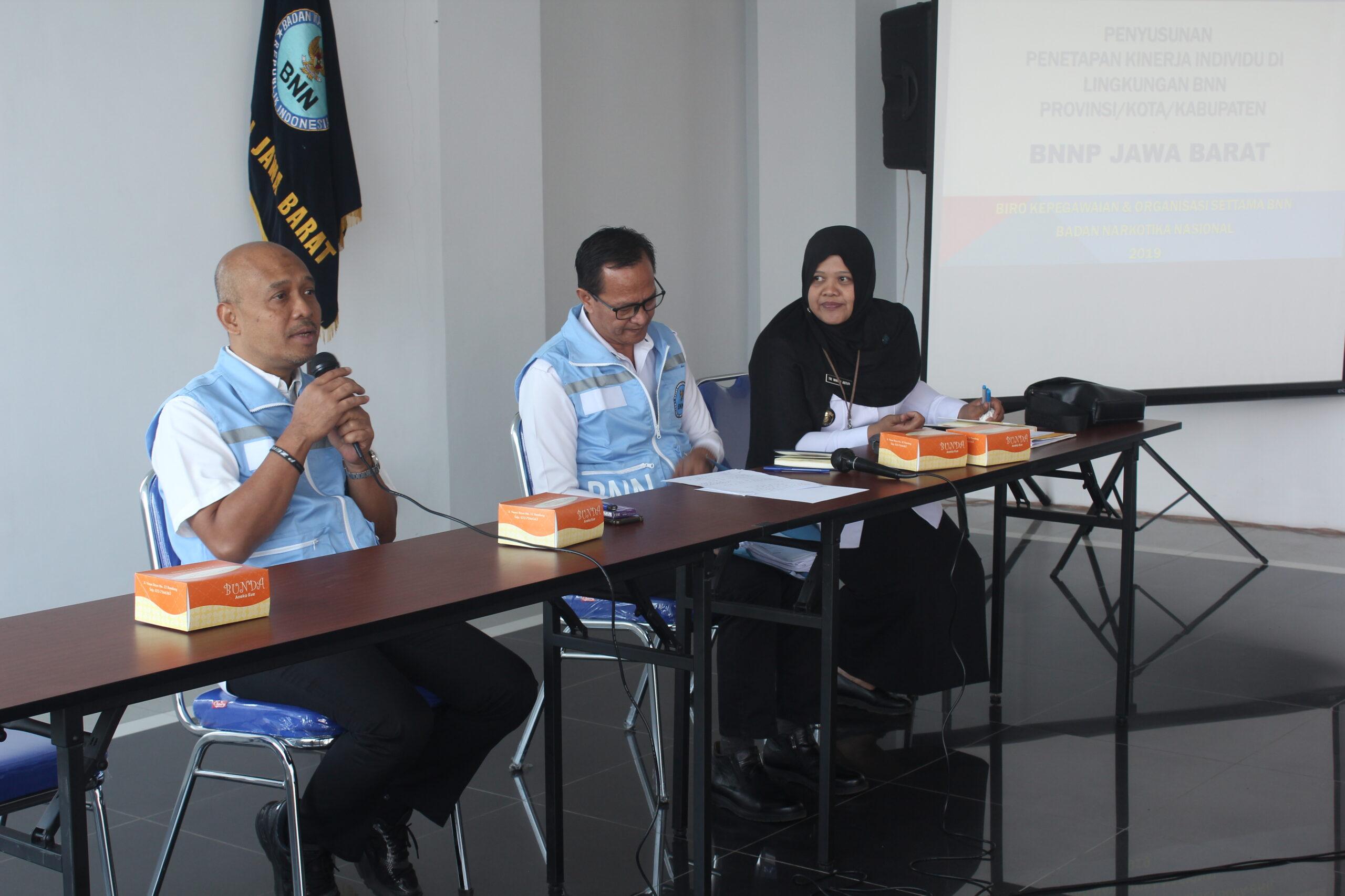 Sosialisasi Penyusunan Penetapan Kinerja Individu Di Lingkungan BNN Provinsi Jawa Barat dan BNN Kota/Kabupaten se Jawa Barat