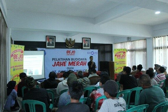 Kerjasama Badan Narkotika Nasional dan PT. Bintang Toejoeh Tentang Wirausaha dan Budidaya Tanaman Jahe Merah di Kelurahan Kebon Jeruk, Kota Bandung